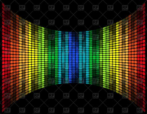 Graphic equalizer  music frequency digital display Vector