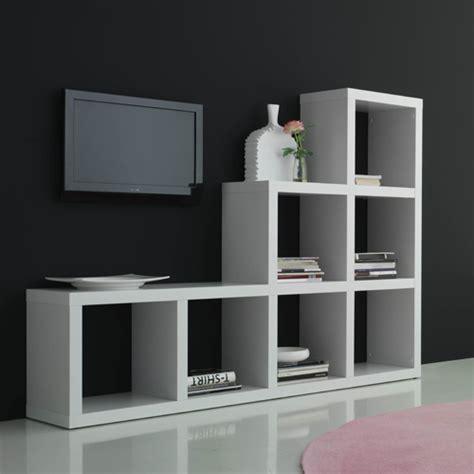 etag re design 8 niches en bois l90xp28xh164cm blanc noir etagere en escalier conforama