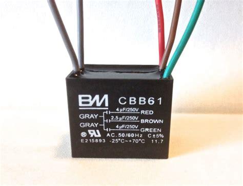 ceiling fan capacitor cbb61 4uf 2 5uf 4uf 5 wire ul listed ebay