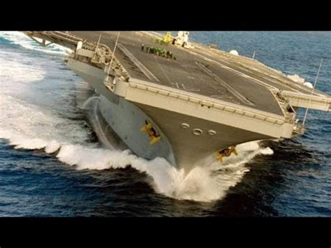 Ship Vs Boat Turning by Extreme Rudder Test U S Nimitz Class Aircraft Carrier