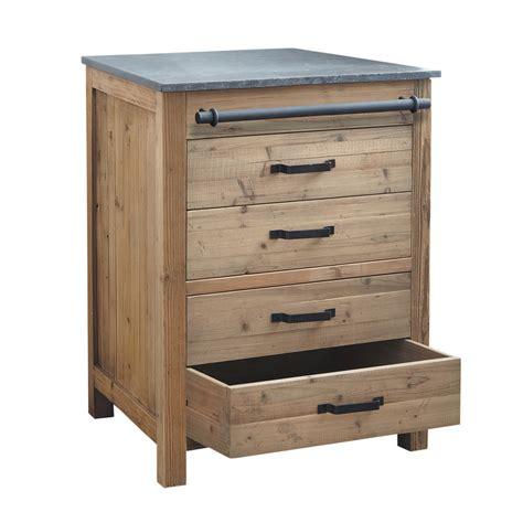 meuble bas de cuisine en bois recycl 233 l 70 cm pagnol maisons du monde