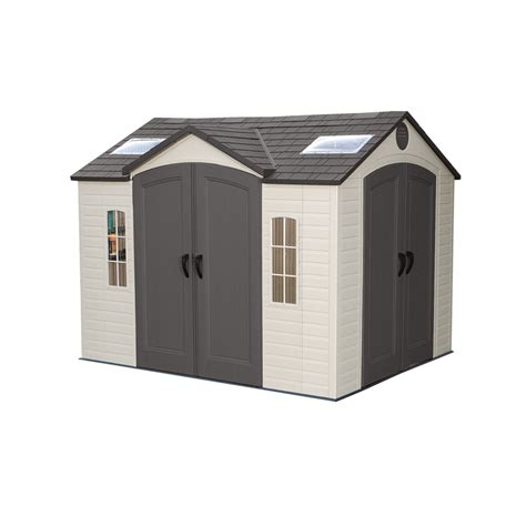 lifetime products 10 ft x 8 ft resin storage shed lowe s canada