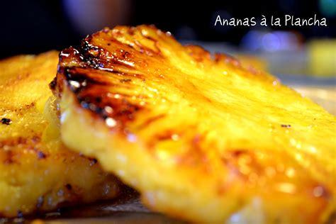 ananas caram 233 lis 233 224 la plancha recette de cuisine