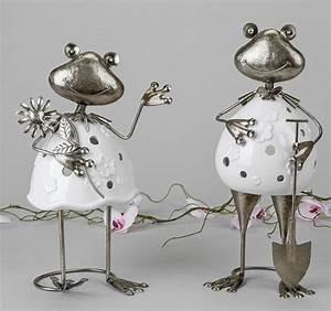 Windlicht Weiß Metall : formano windlicht frosch aus keramik metall in wei silber g rtner 790866 ebay ~ Markanthonyermac.com Haus und Dekorationen
