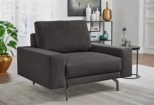 Couch Mit Sessel : h lsta sofa sessel wahlweise in stoff oder leder mit kubischer armlehne online kaufen ~ Markanthonyermac.com Haus und Dekorationen