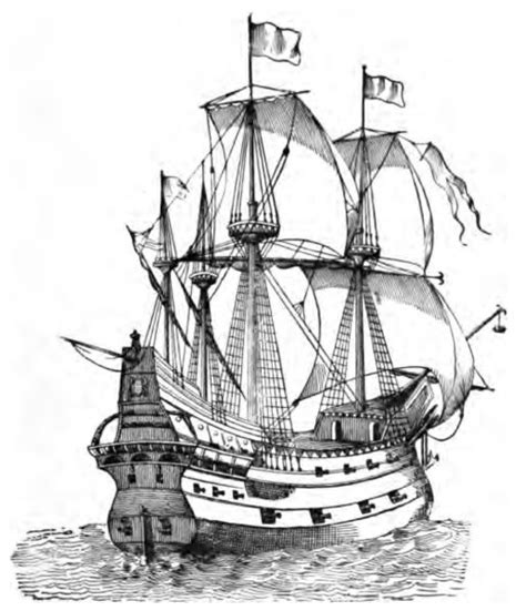 Medieval Boat Drawing by A Fool Of Ships Minstrels And Heroes