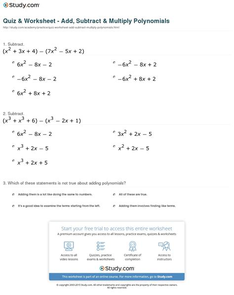 Worksheet Adding Polynomials Worksheet Hunterhq Free Printables Worksheets For Students