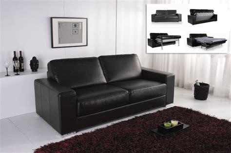 canape convertible modulo cuir noir canap 233 topkoo