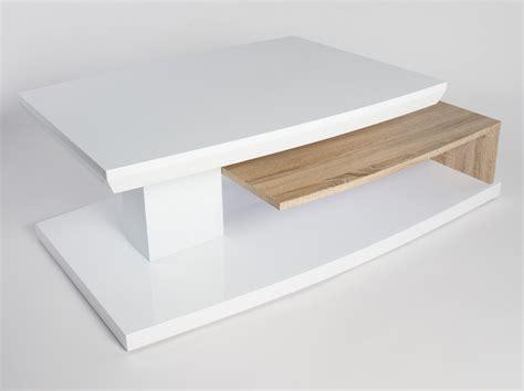 table basse design en bois blanc laqu 233 ch 234 ne clair sulina tables basses colonnes soldes
