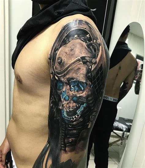 Skull Arm Tattoos For Men