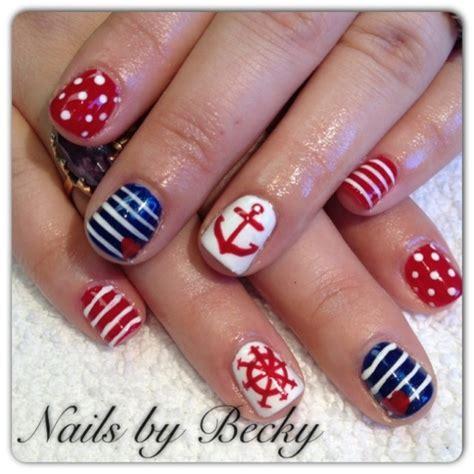 Boat Anchor Nail Art by 20 Nautical Themed Nail Arts You Will Like Pretty Designs