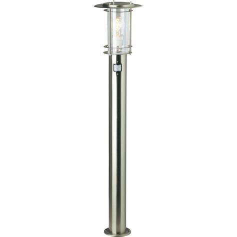 ladaire ext 233 rieur avec d 233 tecteur de mouvements brilliant york 60 w acier inoxydable 105 cm