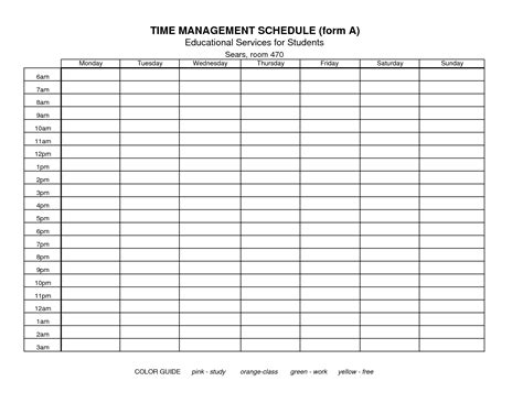 7 Best Images Of Free Printable Time Management Forms
