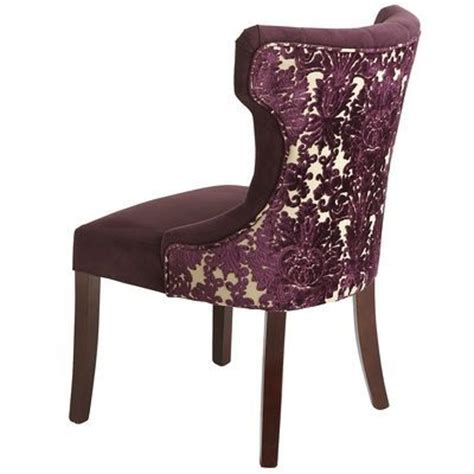 hourglass dining chair purple damask from pier 1 new house chairs