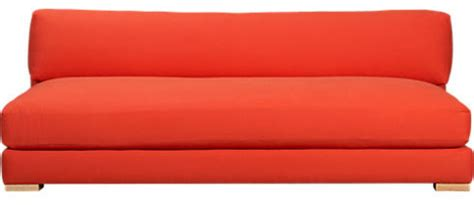 Cb2 Piazza Sofa Cover by Piazza Persimmon Sofa Modern Sofas By Cb2