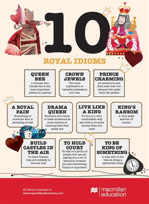 10 Royal Idioms Infographic