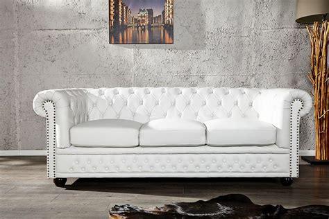 photos canap 233 chesterfield cuir blanc