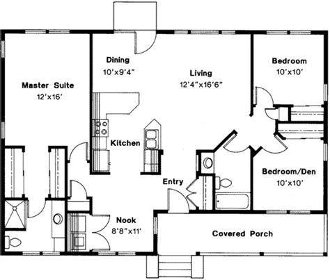 Farmhouse Style House Plan  3 Beds 2 Baths 1328 Sqft