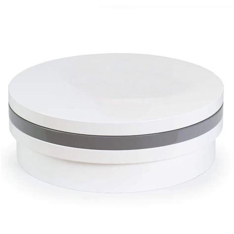 table basse laquee blanc gris tricolors ronde ezooq