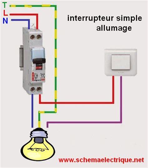 sch 233 ma 233 lectrique interrupteur simple allumage branchement