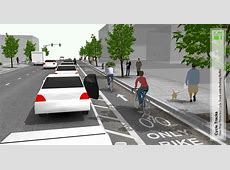 City proposes parkingprotected bike lanes for Gateway