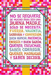 Colorful Squares Spanish-Language Mother's Day Card for ...