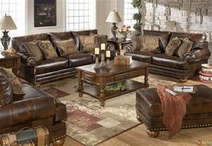 leather living room sets traditional brown bonded leather sofa loveseat living room
