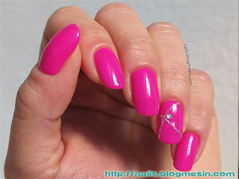 Fuchsia Nail Design With Ibd Just Gel Polish