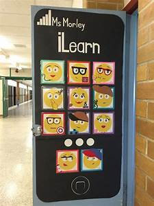 Check out our awesome emoji classroom door my co-workers ...