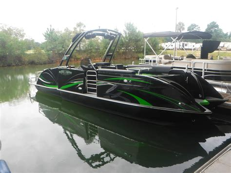Best Pontoon Boats Under 25 Feet by Caravelle 247ur Black Widow 2015 For Sale For 69 523