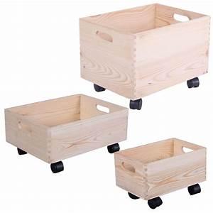 Box Mit Rollen : holzkiste auf rollen aufbewahrungsbox holz kinderzimmer holzkasten rollbox box ebay ~ Markanthonyermac.com Haus und Dekorationen
