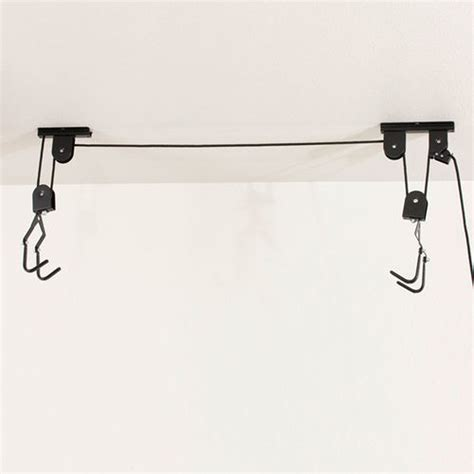 bike bicycle lift ceiling mounted hoist storage hanger pulley rack garage cj581 ebay
