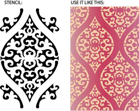 Moroccan Wall Stencil, Moroccan Stencil Patterns, Moroccan