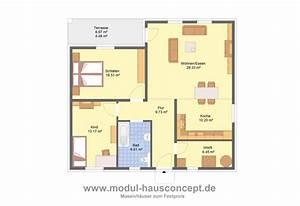 Grundriss Bungalow 100 Qm : modul hausconcept bungalows ~ Markanthonyermac.com Haus und Dekorationen