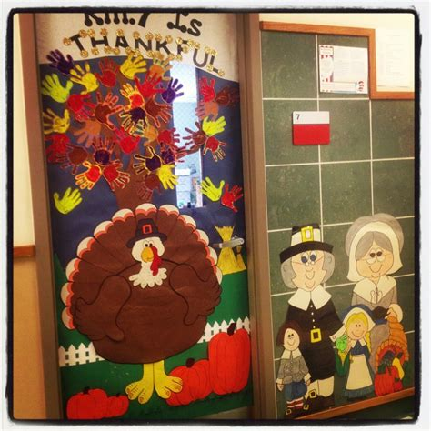 thanksgiving day door decoration idea crafts and