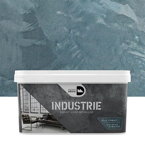 peinture 224 effet industrie maison deco cobalt 4 kg leroy merlin