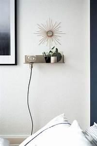Schlafzimmer Lampe Selber Machen : diy stylisches wandregal mit leuchte paulsvera ~ Markanthonyermac.com Haus und Dekorationen