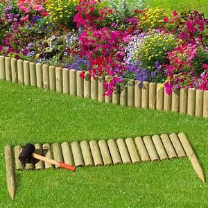 Kleiner Gartenzaun Holz : steckzaun 100 cm zaunh he 20 cm aus holz f r beeteinfassung rasenkante ~ Whattoseeinmadrid.com Haus und Dekorationen