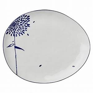 Geschirr Blau Weiß : lene bjerre teller gro oval mille porzellan geschirr blau wei ~ Markanthonyermac.com Haus und Dekorationen
