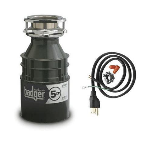 insinkerator badger5xpcord household garbage disposer with cord 3 4 horsepower grey garbage