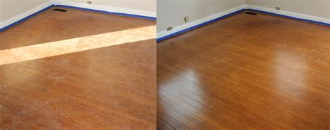 before and after buff coat buff coat hardwood floor