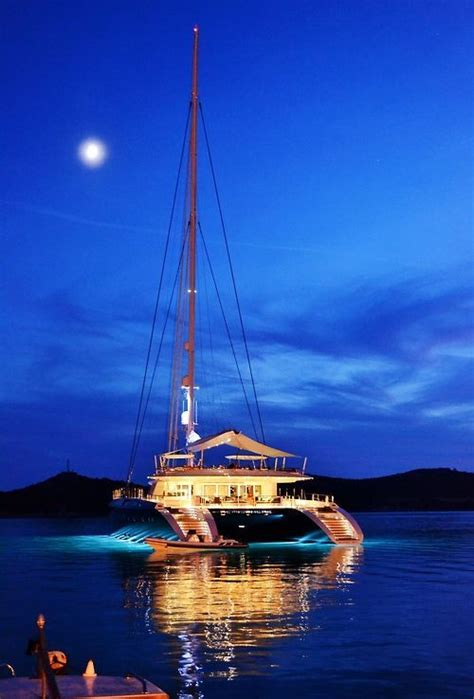 Huge Catamaran Yacht by My Kind Of Mobile Home Boat Life Nautical Treasures