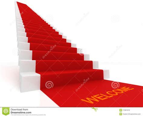 tapis sur les escaliers images libres de droits