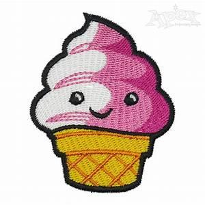 Cute Ice Cream Embroidery Design