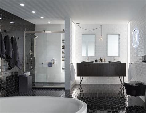 Modèle Carrelage Salle De Bain Noir Et Blanc 25 Décors Où