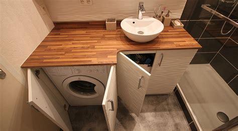 cacher lave linge dans salle de bain de conception de maison