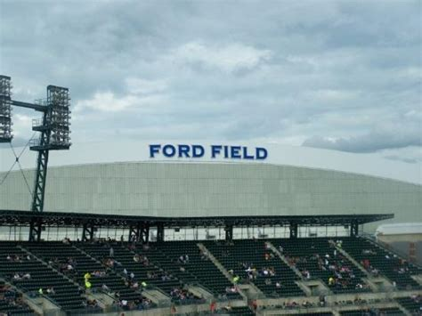 ford field parking deck images
