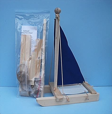 Toy Boat Party Favors by Sailboat Kit Blue Toy Sailboat Kit Diy Wooden Toy Boat