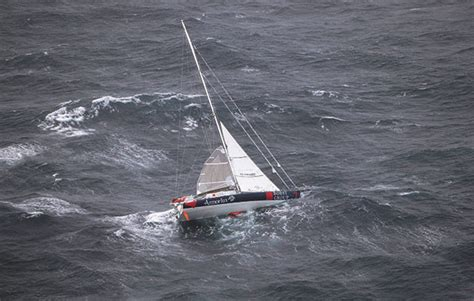 Catamaran Sailing Southern Ocean by Get Out Of That Heaving To In Strong Winds Yachting World