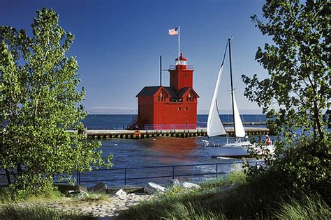 Big Sailboat Jobs by Big Red And Sailboat Quot Big Red Quot Lighthouse In Holland Mi
